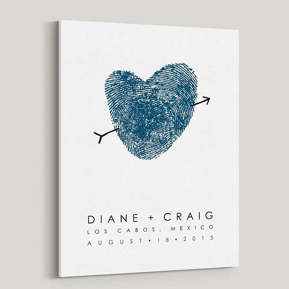 Your Fingerprint Guest Book Alternative Fingerprint Heart