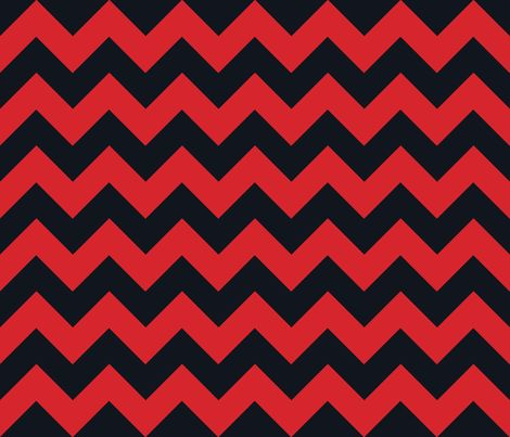 Chevrons Red and Black fabric by juliesfabrics on Spoonflower - custom fabric