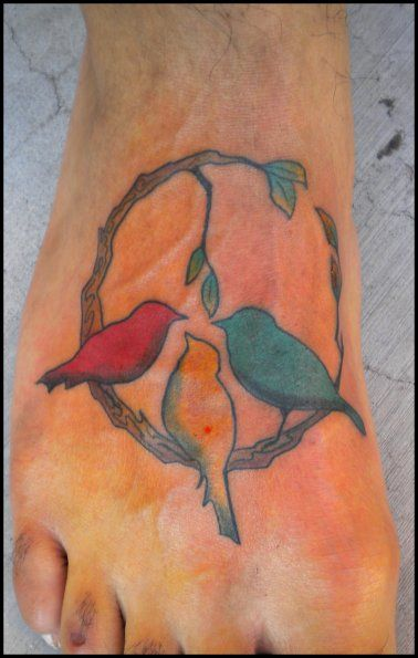 3 little birds, I like this but would get the stick as a straight line
