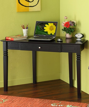 Take a look at this Black Corner Desk by Walker Edison on #zulily today!