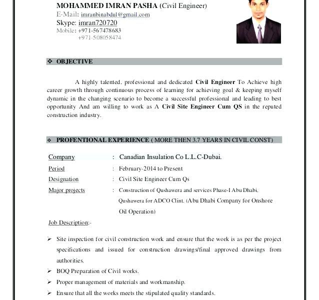 Image Result For Civil Engg Resume Format Engineering Resume