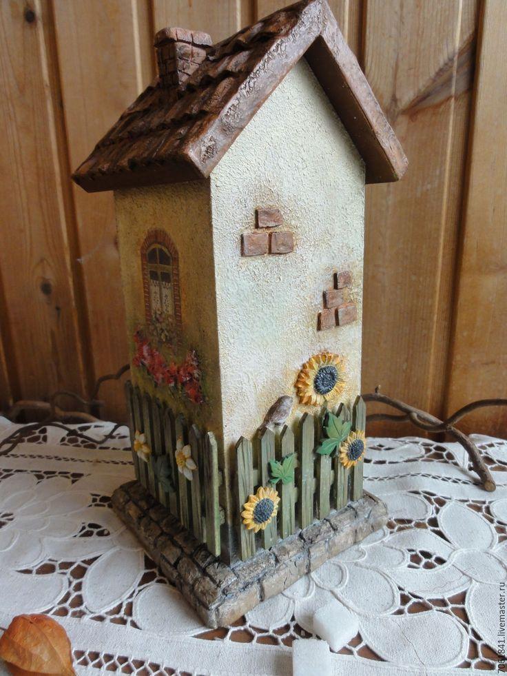 """Купить Чайный домик """" Милый дом"""" - чайный домик, комбинированный, домик в деревне, подсолнухи"""