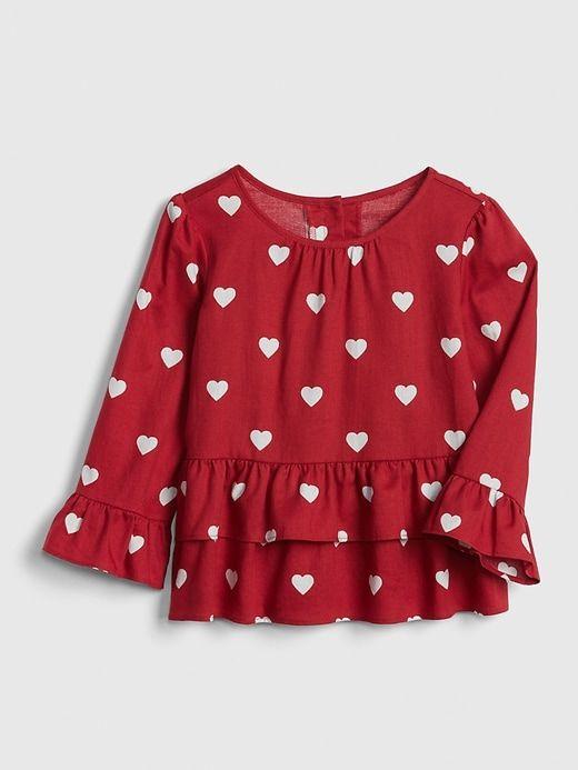 ddf7ad84b1c Gap Baby Layered Ruffle Heart Top Hearts