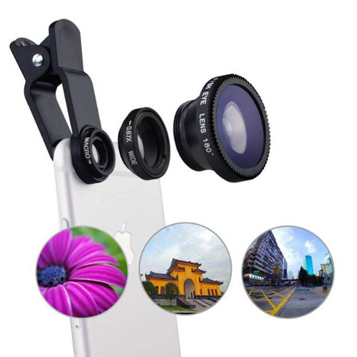 العالمي 3in1 كليب عين السمكة الذكي الكاميرا عدسة واسعة الزاوية ماكرو الهاتف المحمول عدسة آيفون 7 6 5 4 الهواتف الذكية فيش