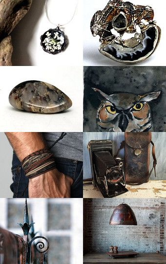 "#ArtPassionBijoux by Sara, photographic #Etsy #treasury: ""Stone and leather"" by Sara on Etsy--Pinned with TreasuryPin.com"