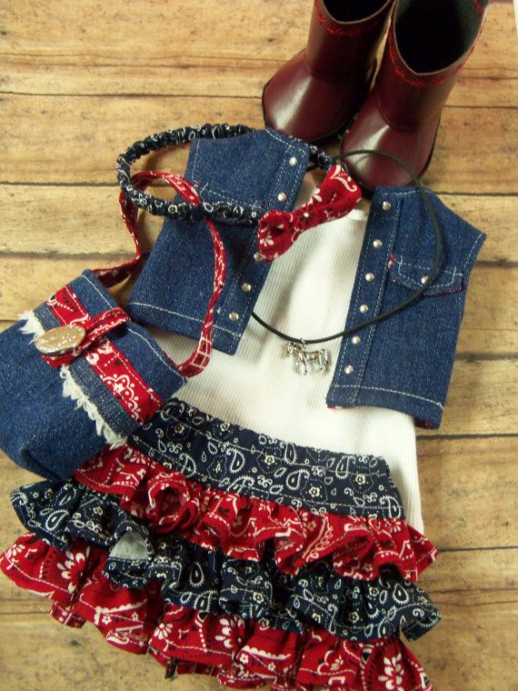 American Girl Doll Clothes Ruffles and by JenAshleyDollDesigns