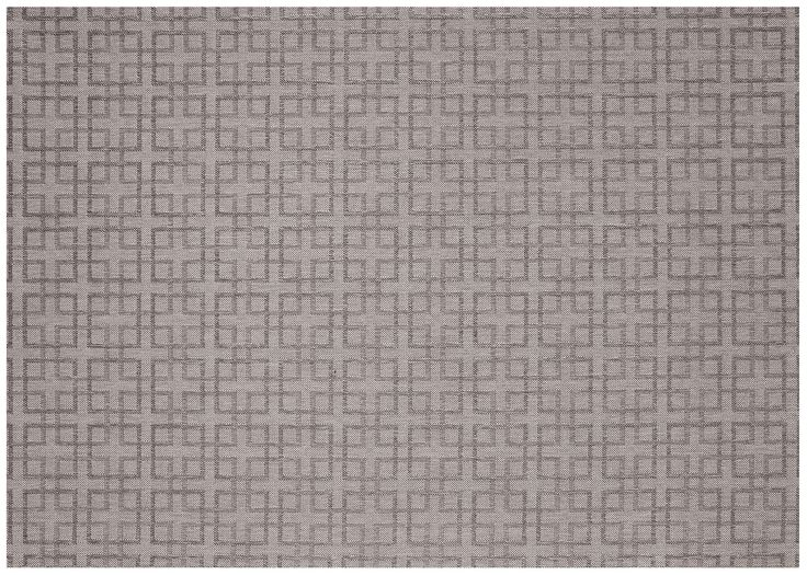 Lattice Silver/Charcoal Outdoor Area Rug