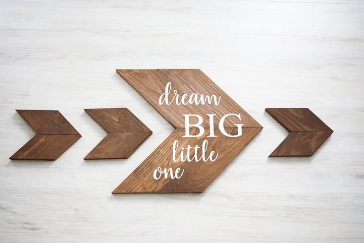Dream Big Little One Chevrons, Nursery Wall Decor, Baby Shower Gift Set for Woodland Rustic Nursery, Kids Room Decor