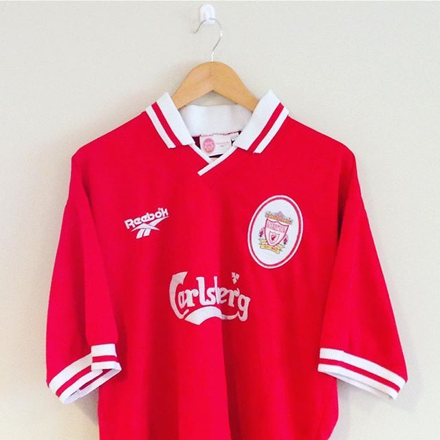 This classic Liverpool home shirt 1996/98 seasons has just been added - link in bio to check it out #lfc #liverpool #liverpoolfc #football #footballshirt #retro #retroshirt #retrofootball #vintage #vintagefootball #vintagereebok #premiership #premierleague #90s #90svintage #90sfootball #soccer #soccerjersey #ynwa