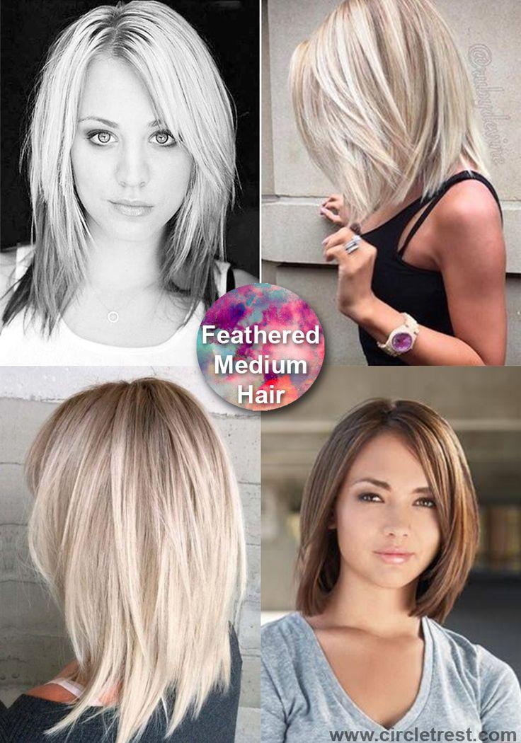 40 trendige mittlere Frisuren für Frauen jeden Alters #aller #alterstuf …   – Beliebte Frisuren