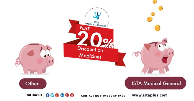 Flat 20% #Discount on #Medicines #Ista #medical #general http://onelink.to/wcc3x3 Contact No :- 040 3959 4979 www.istaplus.com