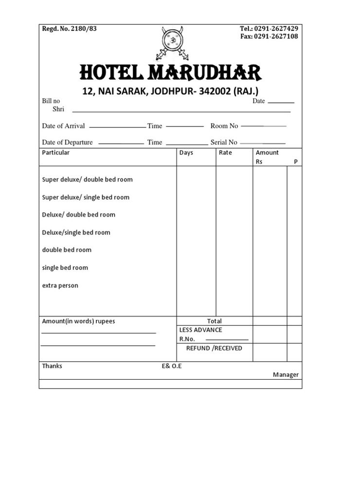 lodge bill format - Yahoo Search Results Yahoo India Image Search results