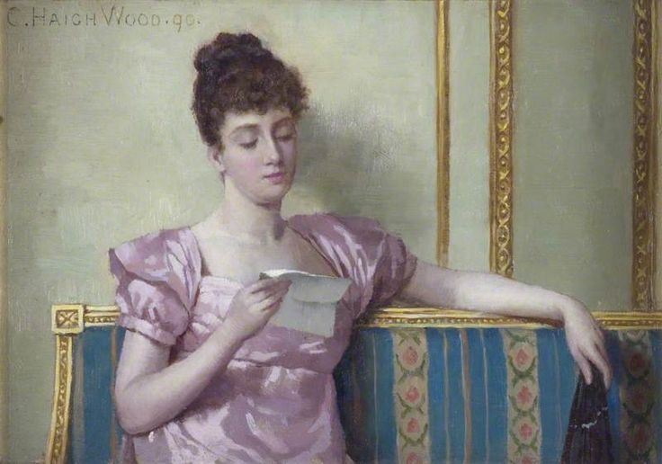 """Reading the Letter"" by Charles Haigh Wood"