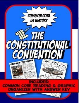 This activity set includes a one page Common Core reading about the US Constitutional Convention with excerpts from the Constitution. Students complete a graphic organizer outlining key points about who was involved and what they set out to do. Students analyze the New Jersey Plan,Virginia Plan and the Connecticut Compromise.