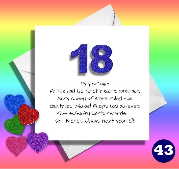 18th Birthday Funny Birthday Card Friend Mate Son Daughter Greetings Card Brother Sister Hilarious Card Great B Birthday Ecards Birthday Cards Niece And Nephew