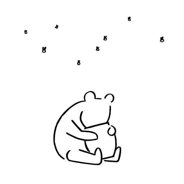 Winnie the Pooh. #winniethepooh #honey #yunagaba #kaerusensei #長場雄 #art