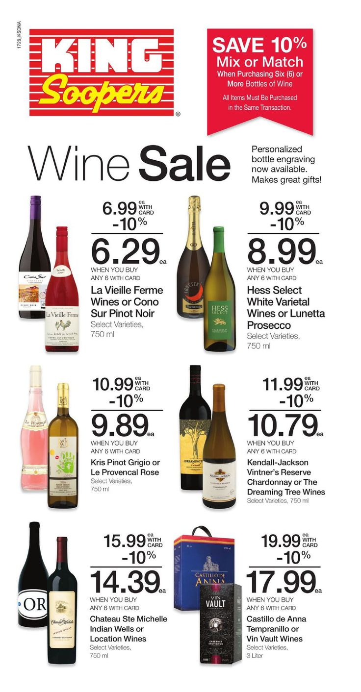 King Soopers Wine & spirits Ad July 27 - August 1, 2017 - http://www.olcatalog.com/grocery/king-soopers-ad.html