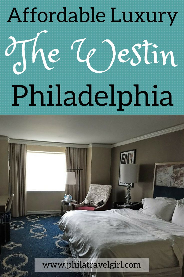The Westin Philadelphia oozes refined luxury with its stylish and modern decor but is also surprisingly affordable. Centrally located, the Westin Philadelphia is an excellent accommodation option that is close to Philadelphia's  attractions. he Westin Philadelphia continues to be one of my favorite hotels in the city. | PhilaTravelGirl #thewestin   #luxury #philadelphia