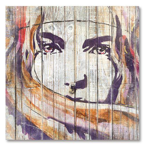 Tableau déco street-art regard de femme