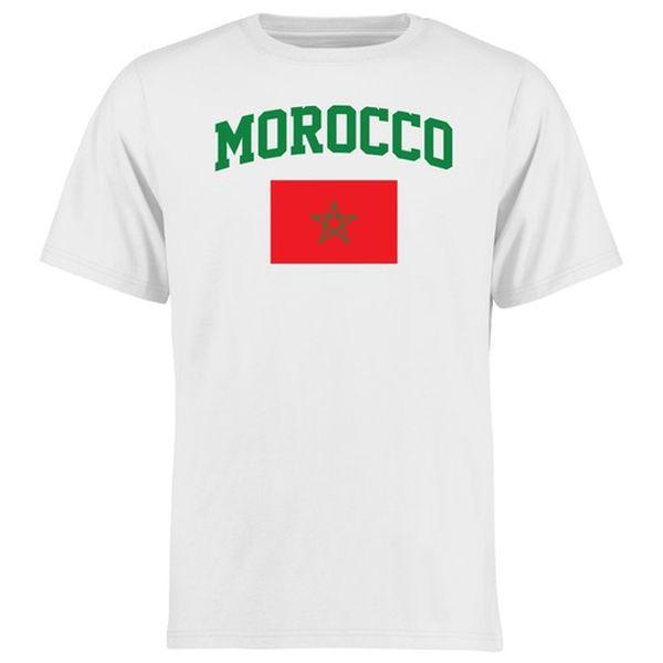 Morocco Flag T-Shirt - White - $21.99