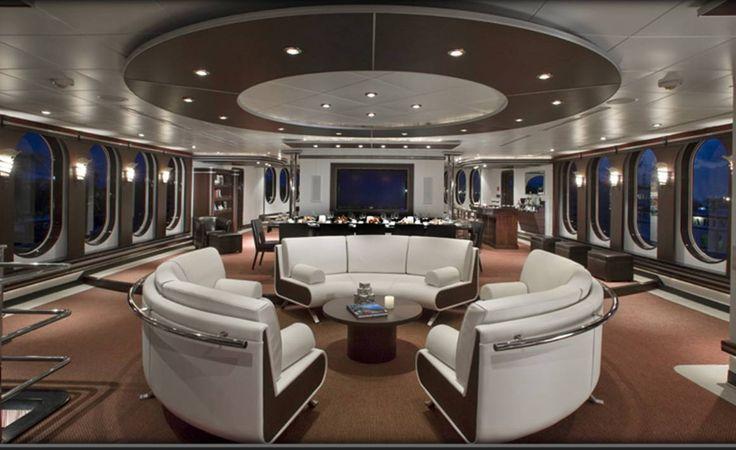 Inside Mega Yachts Sky Lounge Allurre Shadow Yacht