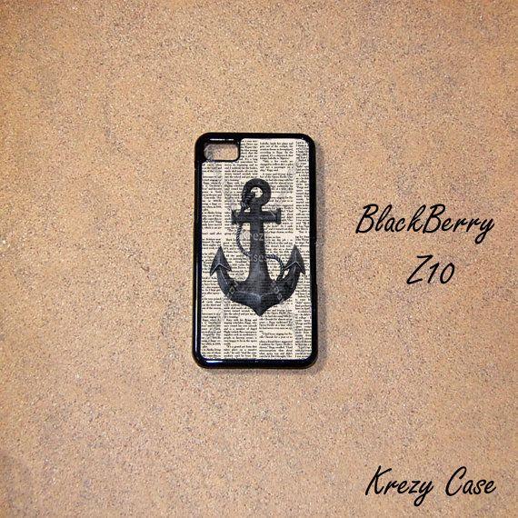 BlackBerry Z10 case Nautical Anchor BlackBerry Z10 by KrezyCase, $14.95