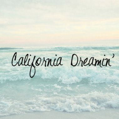 California Dreamin' .....it was once called home for many years..I will always love California