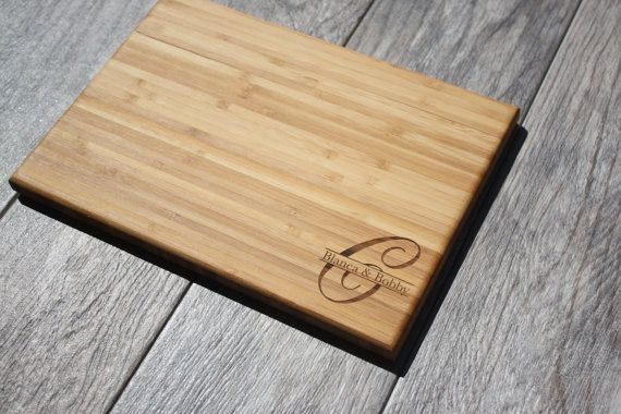 Wedding Gift for Couple, Engagement Gift, Engagement Present, Couples Gift, Custom Wedding Gift, Initial Cutting Board,Monogram Cheese Board
