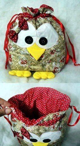 hermosos buhos, hechos una linda bolsa para tus peques o en esas fiestas infantiles te quedaran fantásticos como souvenirs.