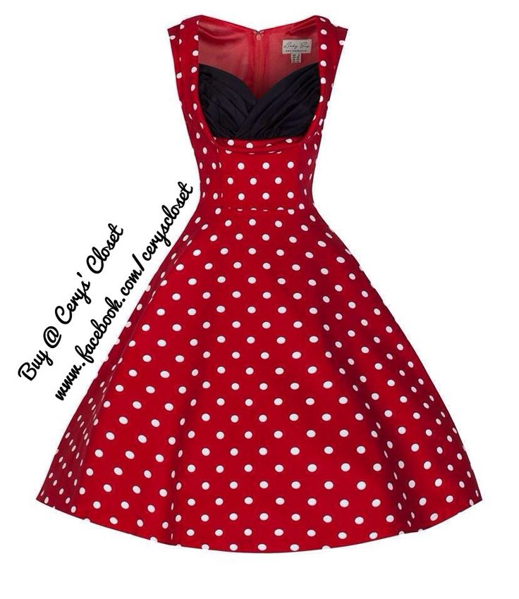 Polka dot full circle dress £36.00 #vintagedress