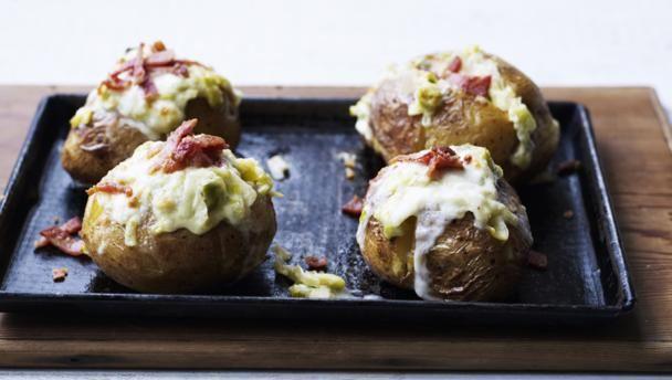 BBC Food - Recipes - Baked potato with bacon, taleggio and leek