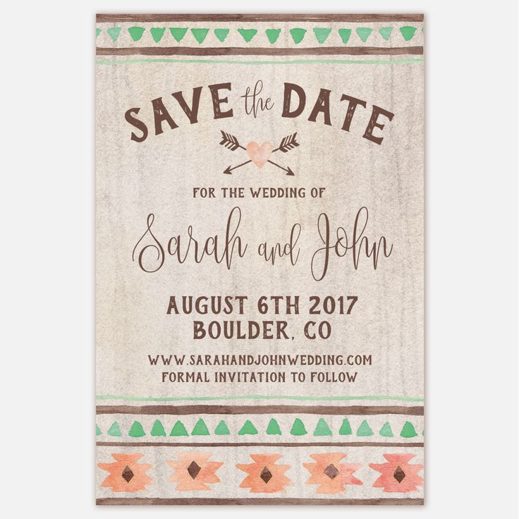 Printable Save The Date - Rustic Wedding by MariaDdesigns on Etsy https://www.etsy.com/listing/272754276/printable-save-the-date-rustic-wedding #rusticwedding #savethedate #tribal #mariaddesigns #invitation #graphicdesign #boho