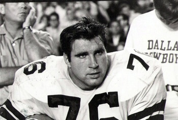 """John Niland, 1966 - 1974, played 203 games, position Left Guard. John """"Big Bad John"""" Niland was known as an excellent pulling run blocker. He made the Pro Bowl for the Cowboys every season from 1968 - 1973."""