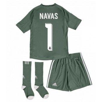 Real Madrid Målvakt Keylor Navas 1 Hemmaställ Barn 17-18 Kortärmad