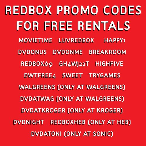 Here's some free Redbox codes for a free movie night! :)