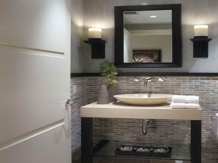 Small Modern Half Bathroom