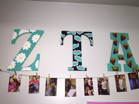non-greek Wooden Sorority Letters Painted