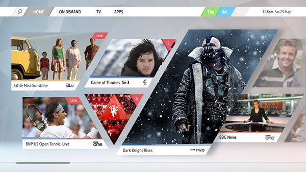 Smart TV UI by Tim Smith, via Behance