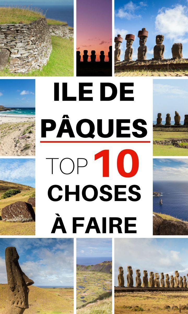 Vous partez en voyage sur l'île de Pâques, en Océanie, une île perdu en plein milieu de l'Océan Pacifique ? J'ai eu l'occasion d'y passer une semaine. Ja vous présente le Top 10 des choses à faire sur l'île ! #voyage #iledepaques #rapanui #moai #statue #chili #oceanie #polynesie #polynésie #îledepâques