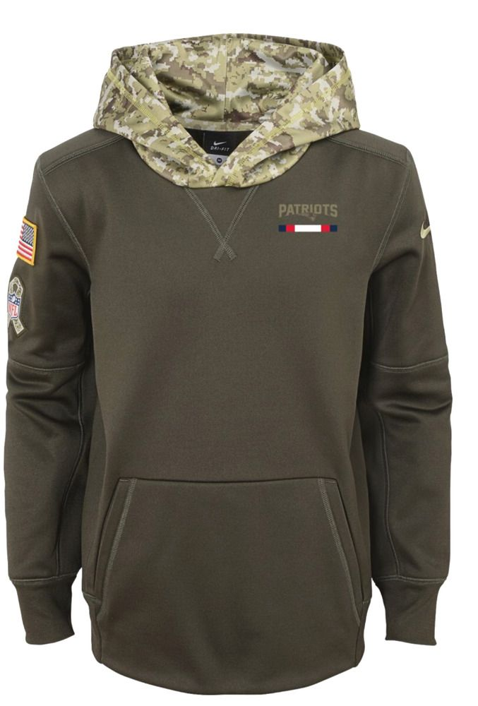 Nike Youth New England Patriots Salute to Service 2017 Therma-FIT Pullover Hoodi #Nike #NewEnglandPatriots