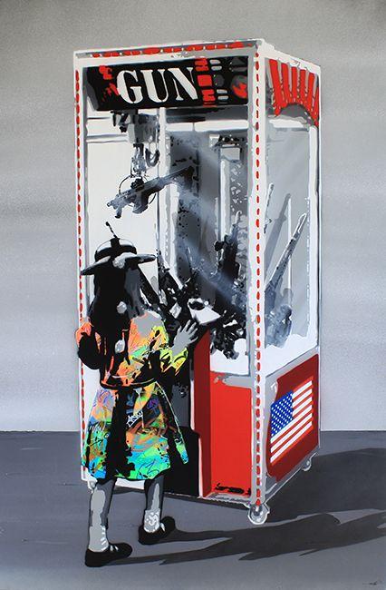 """KURAR street artist artwork named """" NEW GAMES  """" more details on ; kurar.fr/#home"""