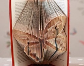 Butterfly Folded Upcycled Book Art Sculpture