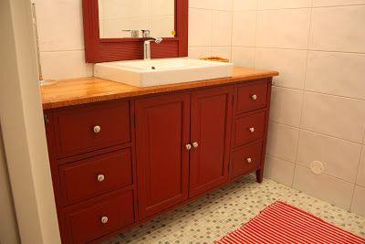 Leksand-komuutista ihana allaskaappi #bathroom