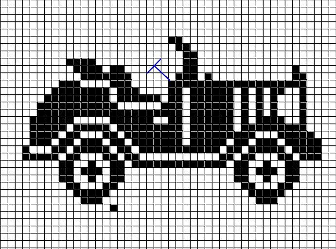 Filet crochet car