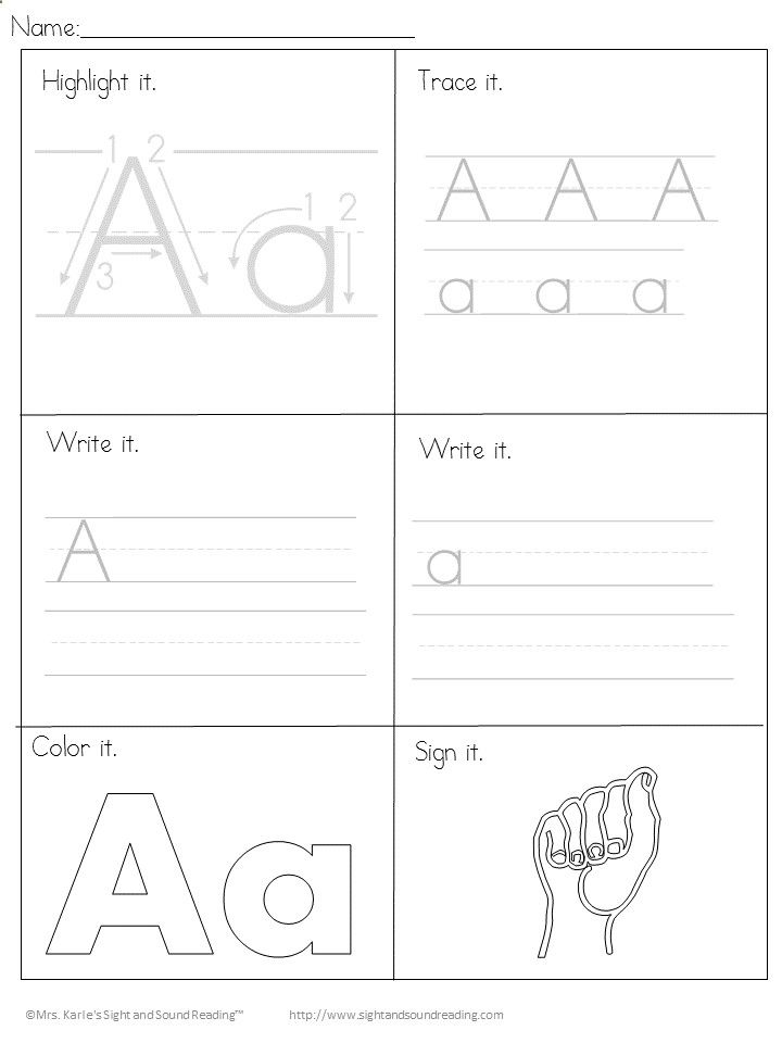 How to Teach Your Child to Read - Printable Handwriting Worksheets