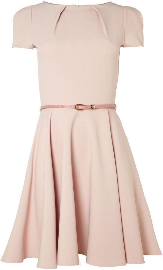Closet Cap sleeve flared belted dress