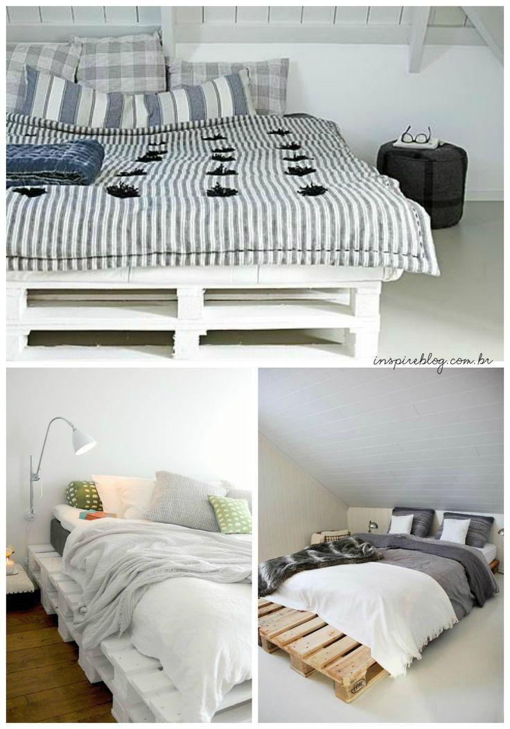 17 melhores ideias sobre camas de pallet no pinterest for Cama palets