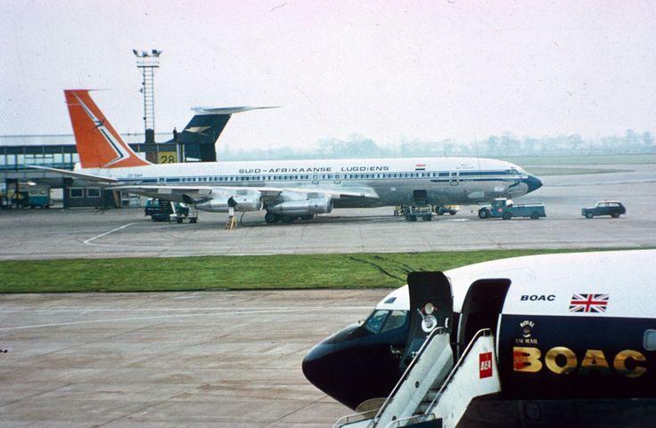 SAA Boeing 707, Heathrow - Courtesy scanavphoto