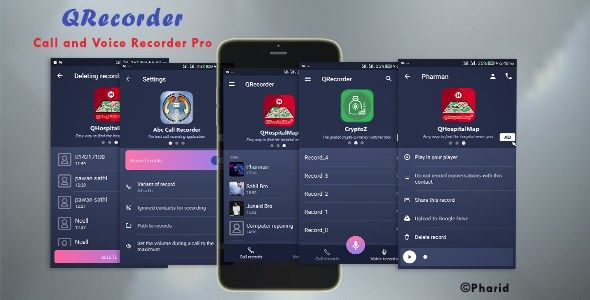 QRecorder - Call and Voice Pro | Beautiful UI, Ads Slider