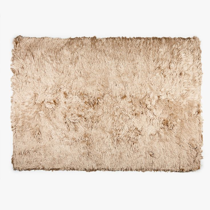 Image 1 of the product ECRU-COLOURED FURRY RUG